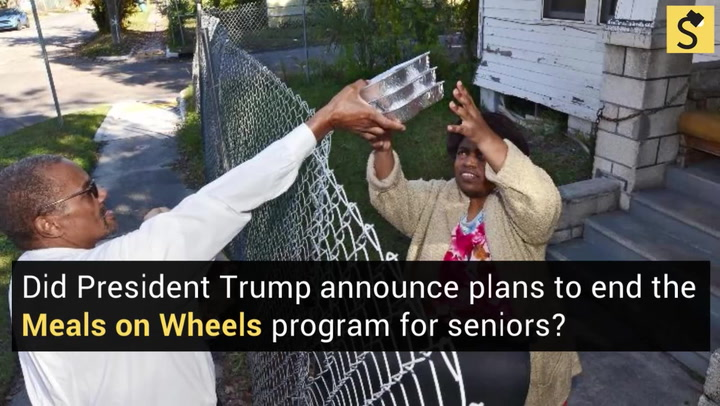 Fact check did president trump announce plans to end the meals on a budget blueprint released by the trump administration would cut funding for a program that partially funds the meals on wheels program but would not end malvernweather Images