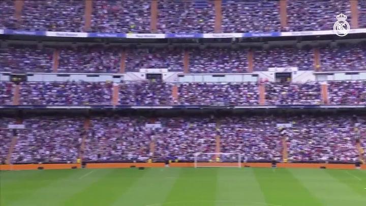 Impresionante ambiente en el Bernabéu para recibir a Hazard