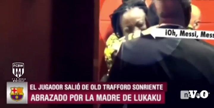 El día que Messi hizo enloquecer a la madre de Lukaku