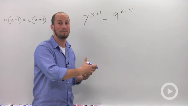 Solving Exponential Equations with the Different Bases - Problem 4