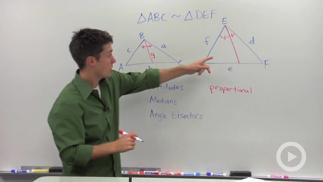 Corresponding Parts of Similar Triangles