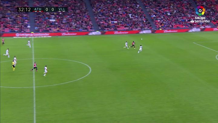 Gol de Iñaki Williams (1-0) en el Athletic 1-1 Valladolid
