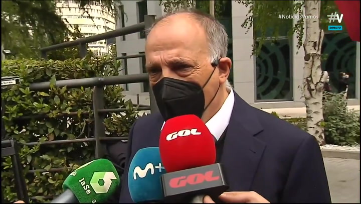 """Javier Tebas: """"La Superliga ha hecho el ridículo"""""""