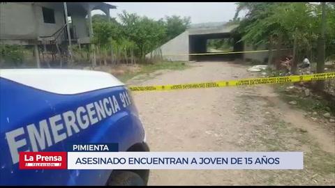 Asesinado encuentran a joven de 15 años en Pimienta
