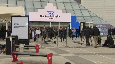 Abren hospital de campaña con 4.000 camas en Londres