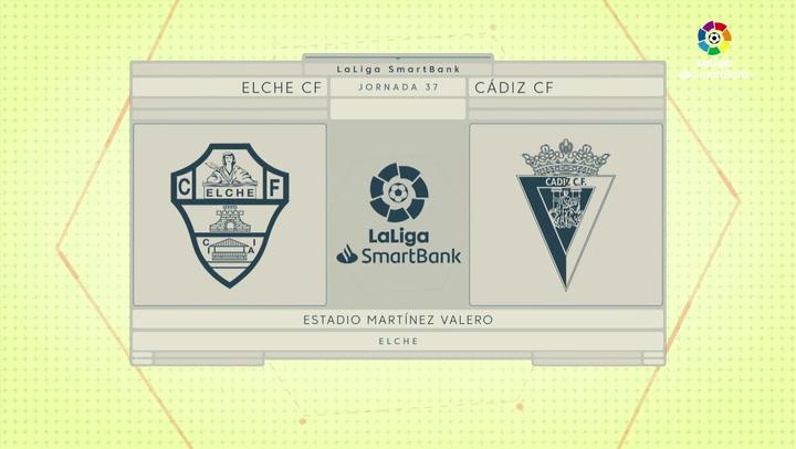 LaLiga SmartBank (J.37): Elche 0-0 Cádiz