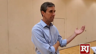 Beto O'Rourke speaks in Las Vegas