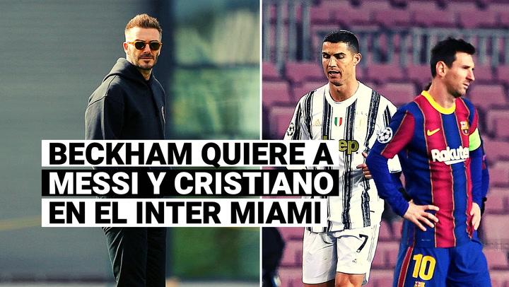 Lionel Messi y Cristiano Ronaldo en la mira de David Beckham para MLS