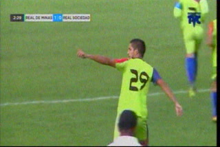 Juan Ramón Mejía tiene ganando a Real de Minas con gol de camerino