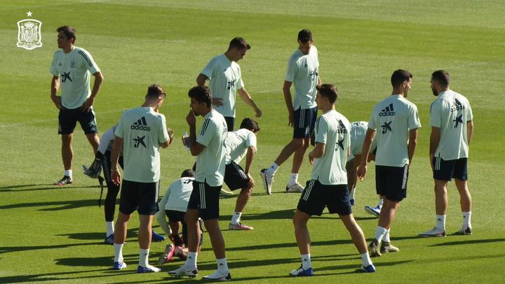 Entrenamiento de la selección española antes del partido ante Ucrania de la UEFA Nations League