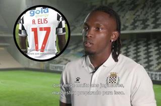 Alberth Elis y su primera entrevista en el estadio del Boavista: