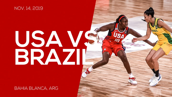 Highlights // USA Defeats Brazil 76-61