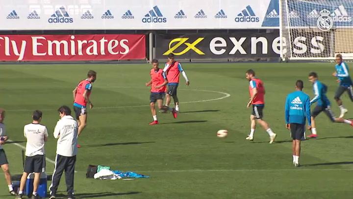 Segundo entrenamiento del Real Madrid con Zidane al frente