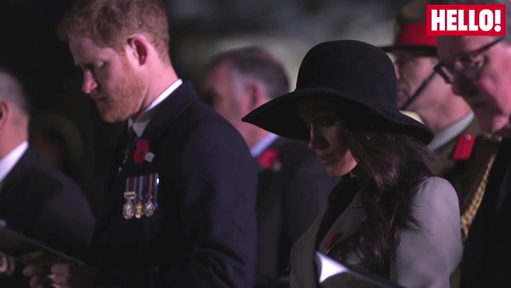 Meghan Moved By Touching Anzac Day Dawn Ceremony