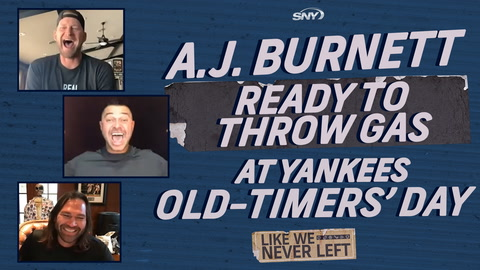 Like We Never Left: A.J. Burnett ready to throw gas at Yankees Old-Timers' Day