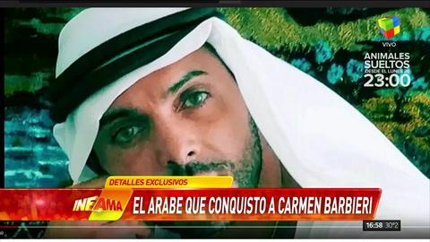 ¿Quién es el árabe que busca conquistar a Carmen Barbieri?
