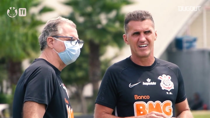 Corinthians' last training session before face Sport Recife