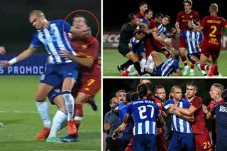 ¡Entrada criminal y zafarrancho! La brutal falta de Pepe que provocó una tangana en el 'amistoso' Porto-Roma