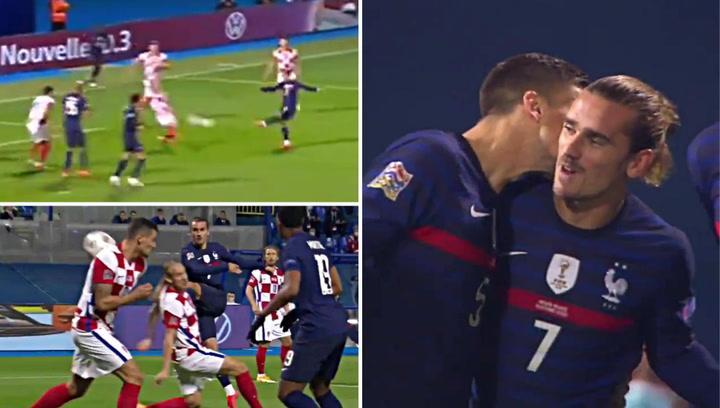 Trallazo imparable de Griezmann para abrir el marcador ante Croacia