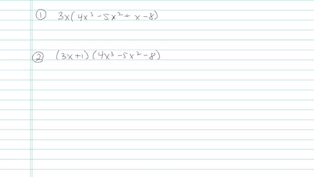 Multiplying Larger Degree Polynomials using Distributing - Problem 4