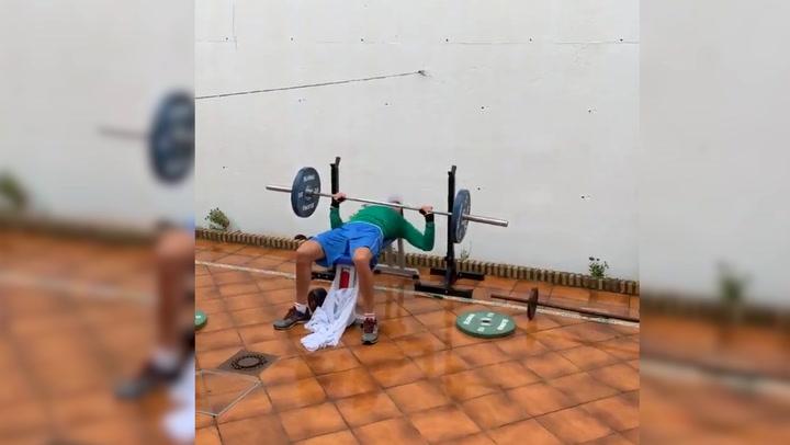 La pareja de remo, Jaime Canalejo y Javier García, se entrenan en casa