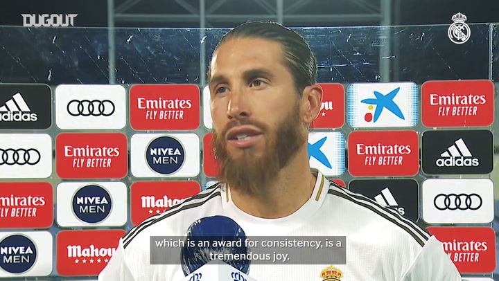 Ramos: 'This is a reward for our hard work'