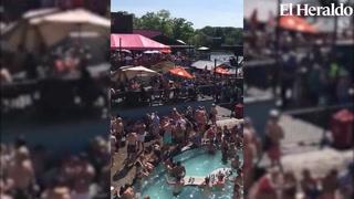 Cientos de personas armaron fiesta en piscina en plena crisis por COVID-19
