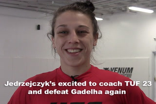 Jedrzejczyk's excited to coach TUF 23 and defeat Gadelha again