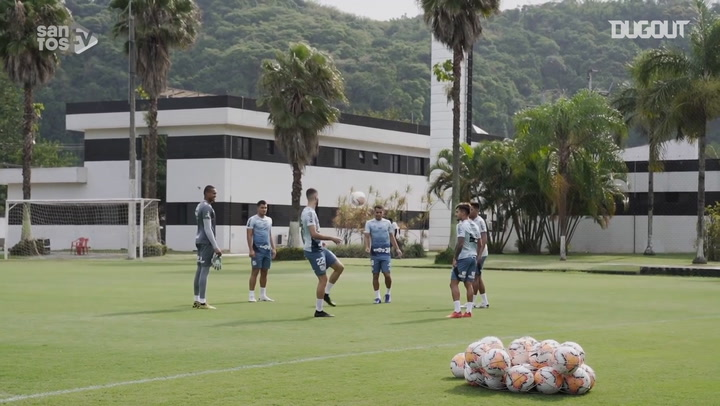 Santos' training session at CT Rei Pelé