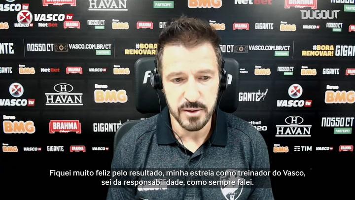 Ramon analisa estreia e primeira vitória como técnico do Vasco