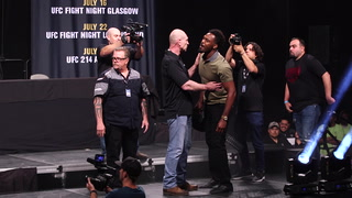 UFC Summer Kickoff press conference staredowns