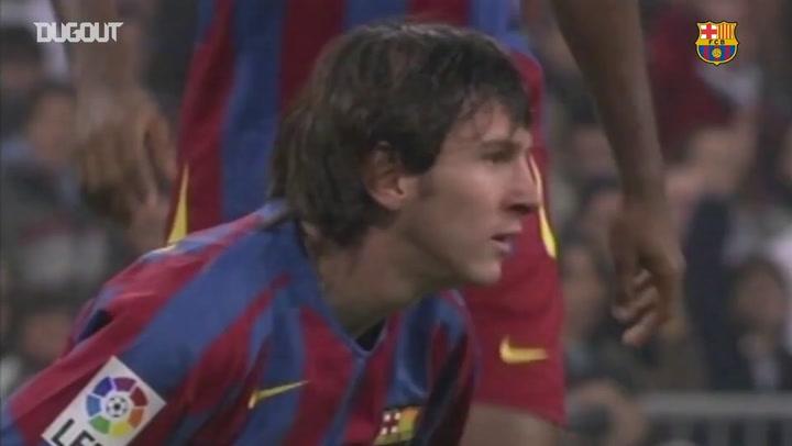 Primeiro El Clásico de Messi pelo Barcelona