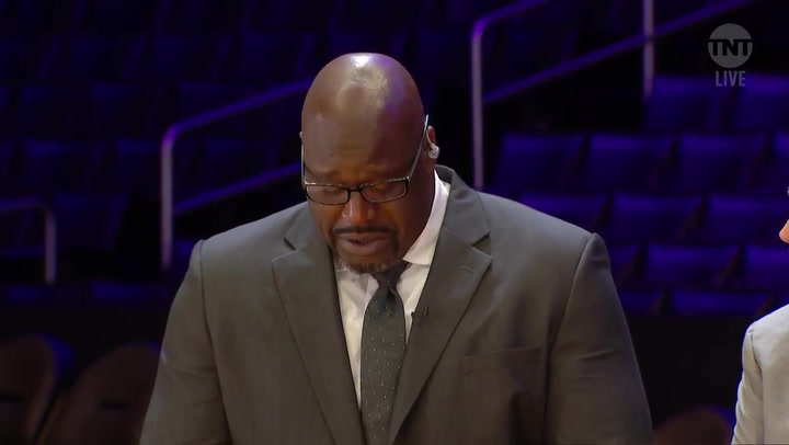 Shaquille O'Neal recuerda a Kobe Bryant entre lágrimas