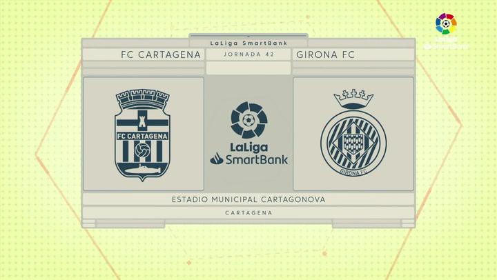 LaLiga SmartBank (J42): Resumen y goles del Cartagena 1-1 Girona