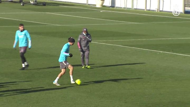 Último entrenamiento del Real Madrid antes de visitar al Elche