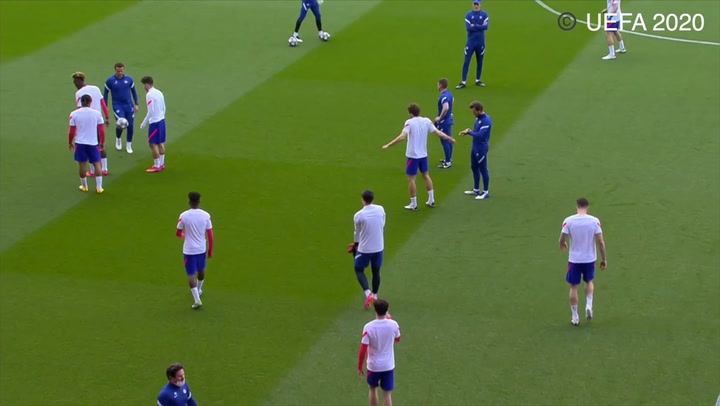 Hakim Ziyech all smiles as Chelsea train Seville ahead of Porto clash