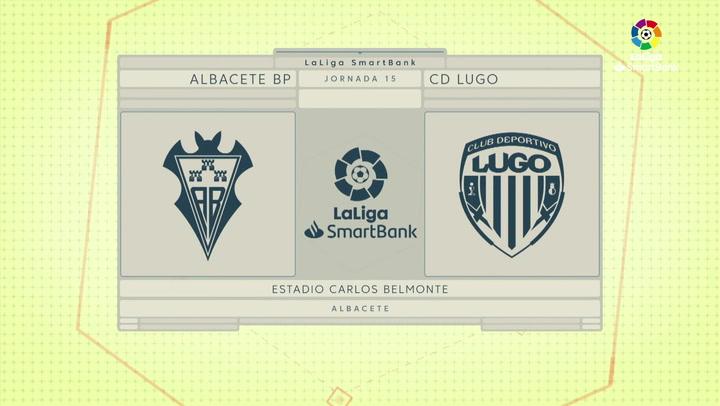 LaLiga SmartBank (J15): Resumen y gol del Albacete 0-1 Lugo