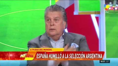 Explotó Ventura tras el papelón de Argentina ante España