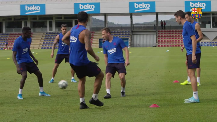 El Barça vuelve a los entrenamientos con miras al inicio de Liga