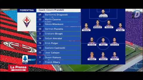 Milan 2 - 0 Fiorentina (Serie A)
