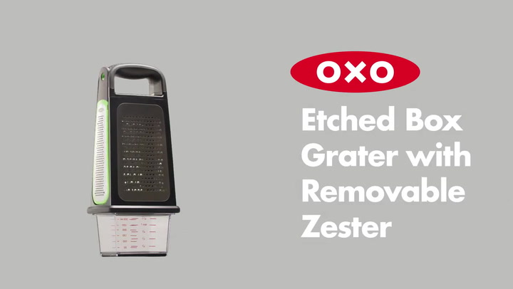 Preview image of OXO Good Grips Box Grater with Removable Zester video