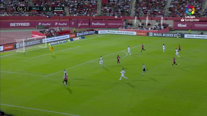 Gol de Lago Junior (1-0) en el Mallorca 1-0 Real Madrid