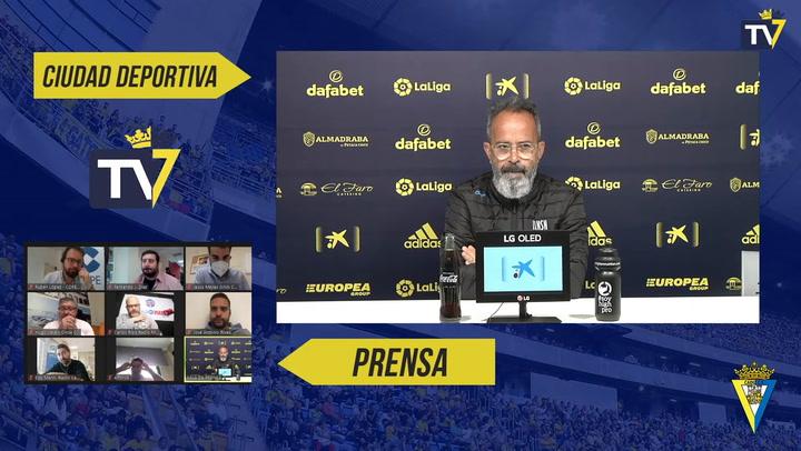 El entrenador del Cádiz defiende a Cala durante la rueda de prensa previa del al Getafe