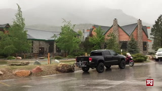 Rain And Snow Fall On Deer Creek Road And Mount Charleston Resort – Video