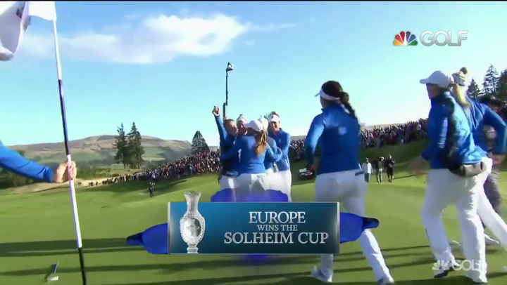 Vibrante victoria de Europa tras una agónica última jornada en la Solheim Cup
