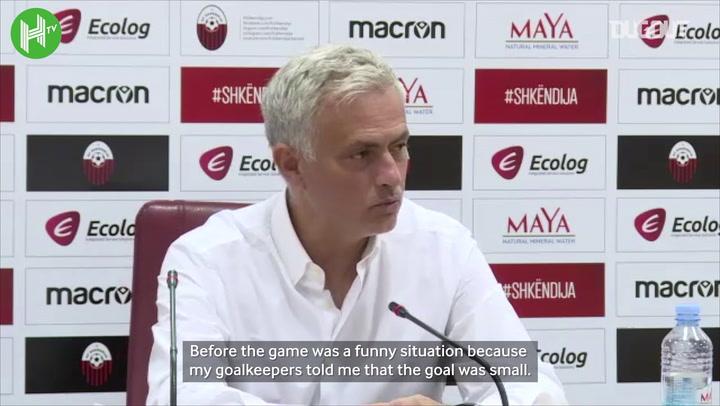 Mourinho reveals goalpost drama before Europa League tie
