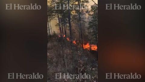 El video del fatídico momento del incendio en La Montañita