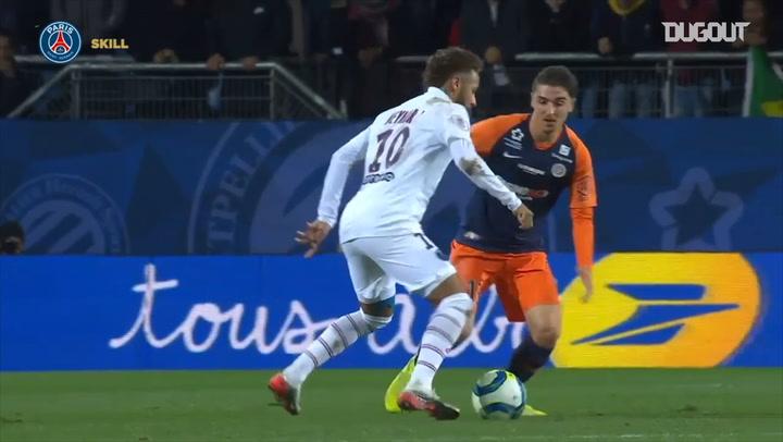 Neymar Jr's stunning nutmeg against Montpellier