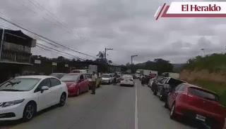 Honduras: Carretera al sur cerrada tras aparatoso accidente