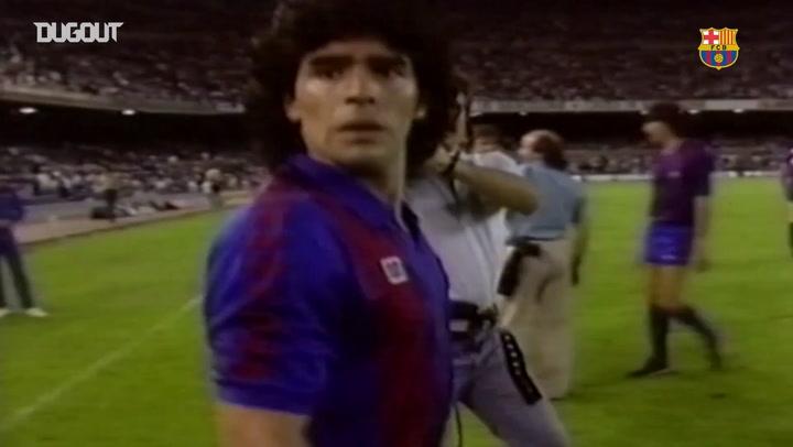 أفضل مهارات مارادونا مع برشلونة